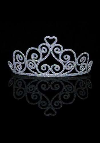 Adult Sparkle Silver Heart Tiara