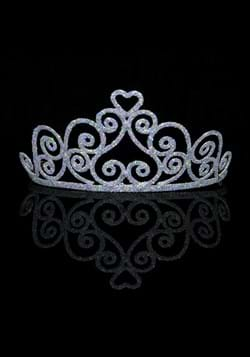Adult Sparkle Silver Heart Tiara