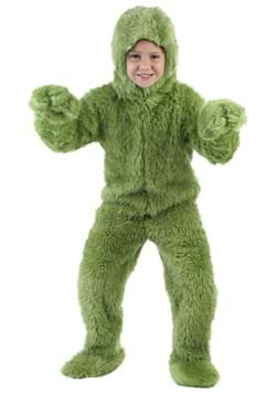 Child Green Furry Jumpsuit Costume Upd
