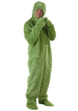 Green Furry Adult Jumpsuit Costume Upd