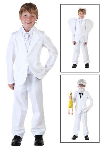 Kids White Suit Costume Update Main