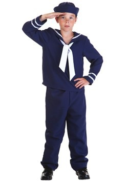 Blue Sailor Costume For Kidscc