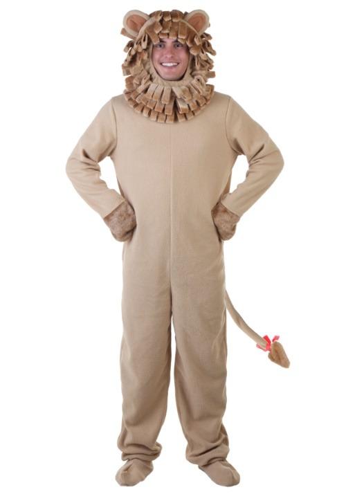 Adult Lion Jumpsuit Costume