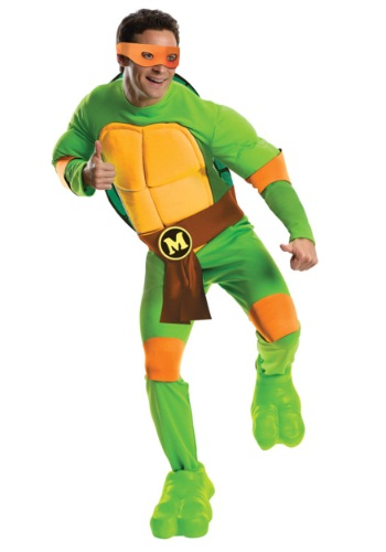 Deluxe TMNT Michelangelo Costume for Men
