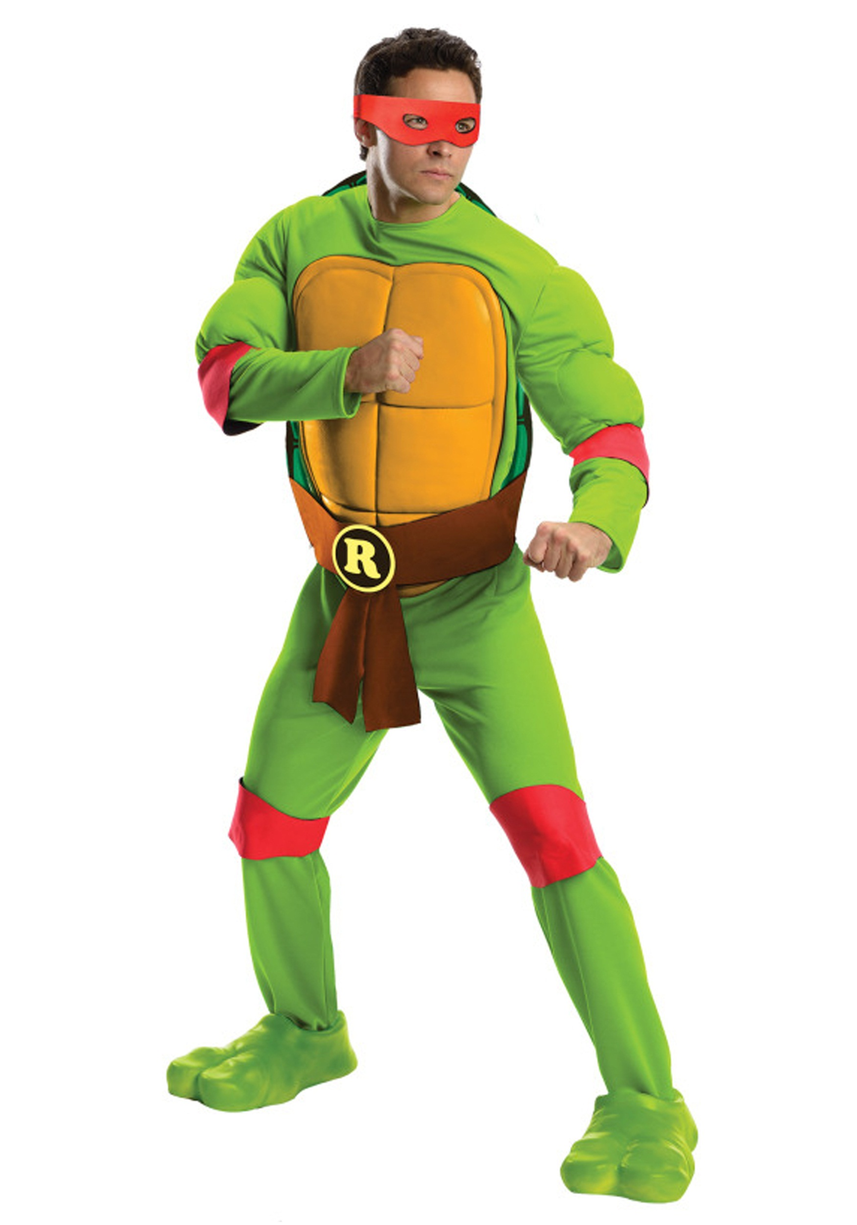 Deluxe TMNT Raphael Menu0027s Costume  sc 1 st  Fun.com & Deluxe TMNT Raphael Costume for Men