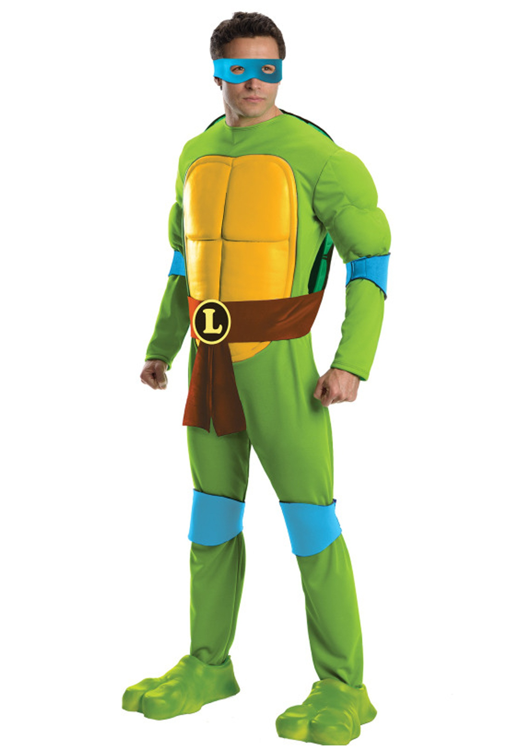 Deluxe TMNT Leonardo Menu0027s Costume  sc 1 st  Fun.com & Deluxe TMNT Leonardo Costume for Men