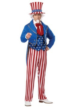 Plus Size Deluxe Uncle Sam Costume For Adults