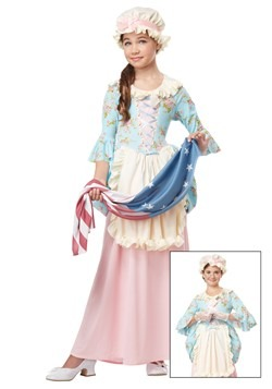 Colonial Lady Girls Costume Update Main