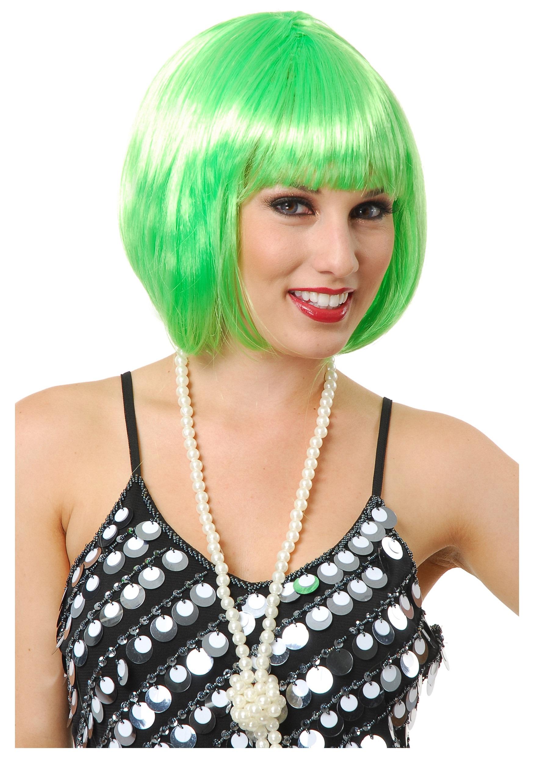 Lime Green Bob Wig  sc 1 st  Fun.com & Lime Green Bob Wig for Women
