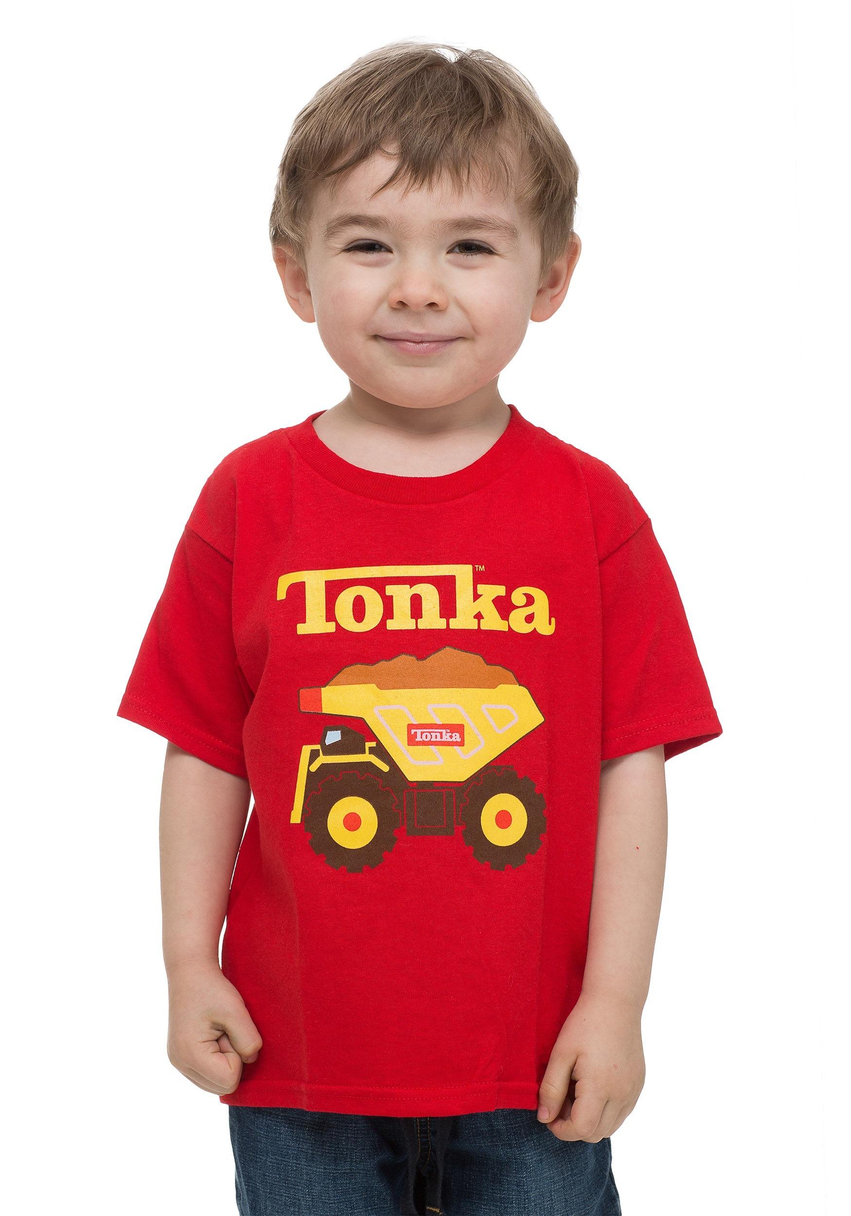 Toddler Tonka Truck Red T-Shirt FZKOSB001TD