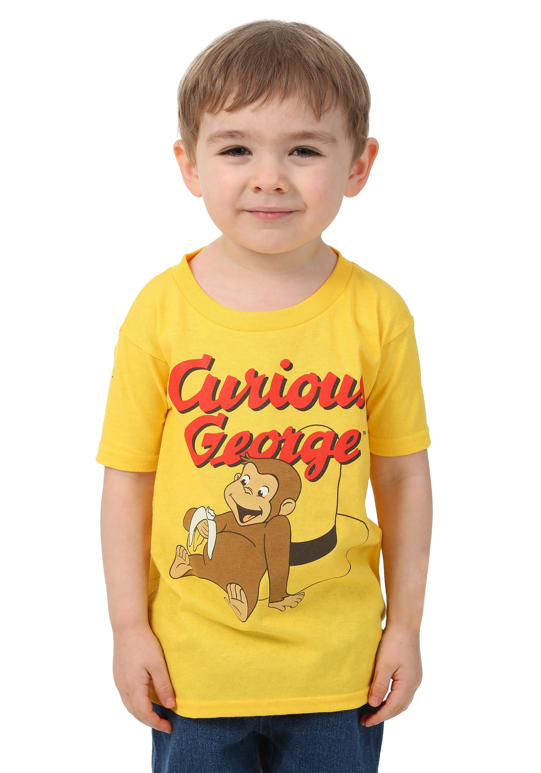 Boys curious george yellow t shirt for Yellow t shirt for kids
