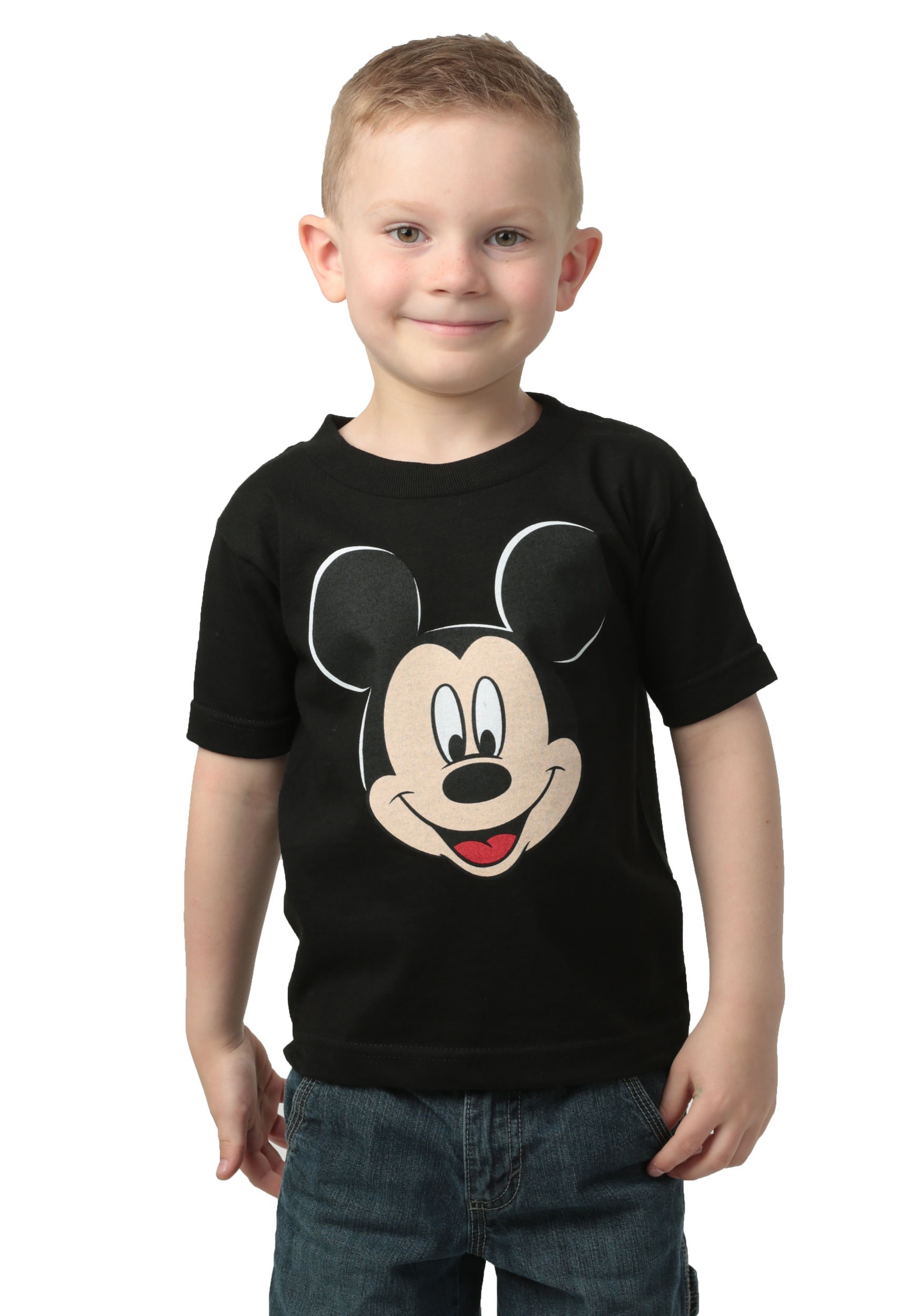 boys mickey mouse black tshirt