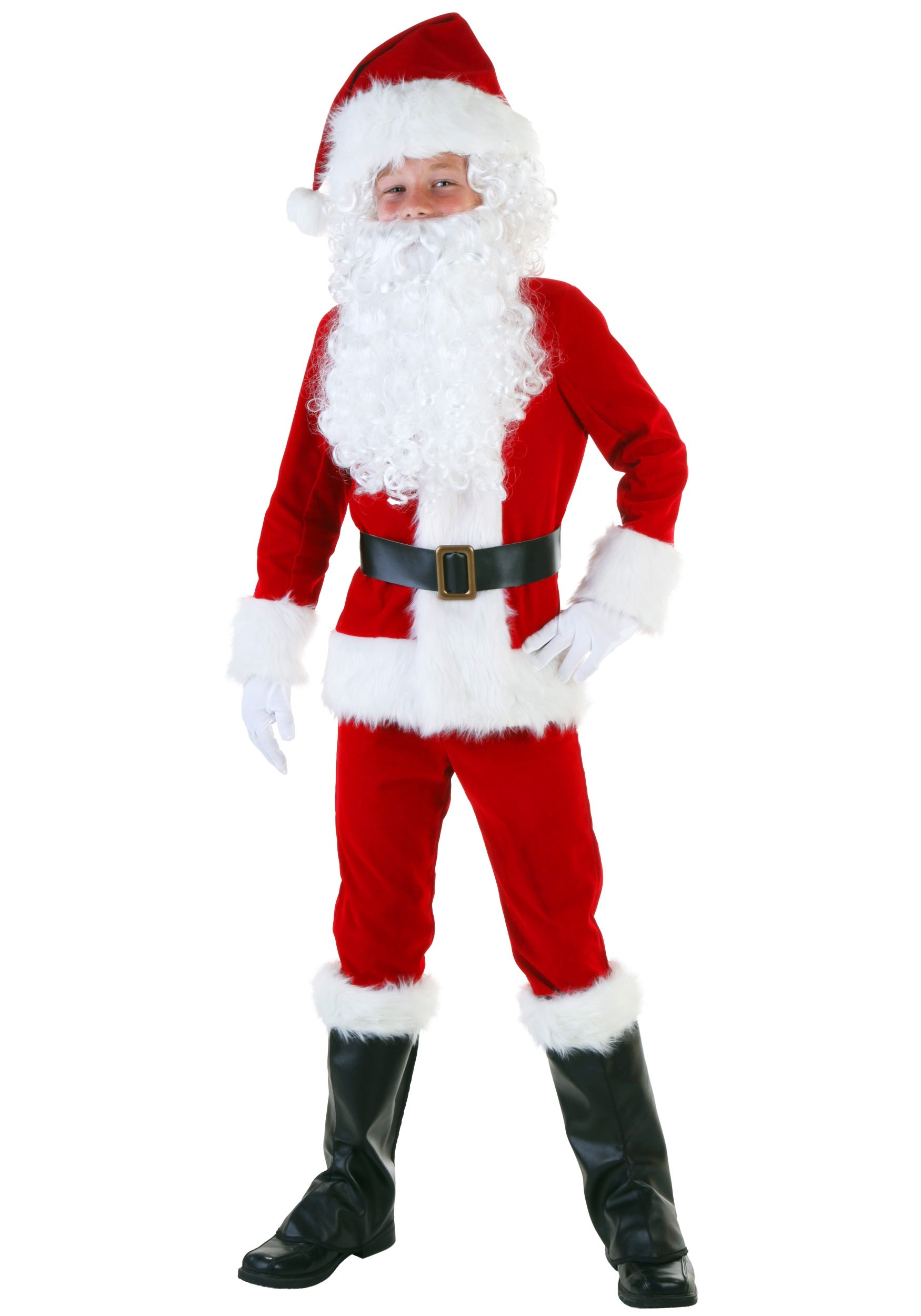 Deluxe Santa Boys Costume FUN2048CH