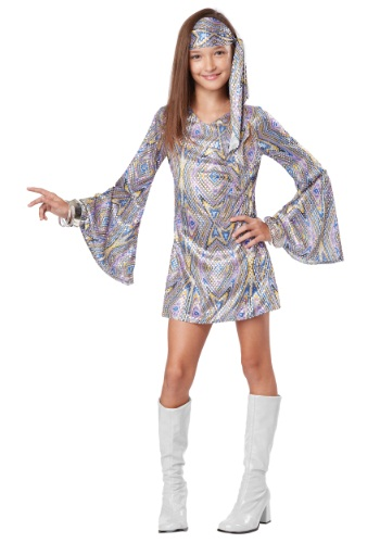 Girl's Disco Darling Costume