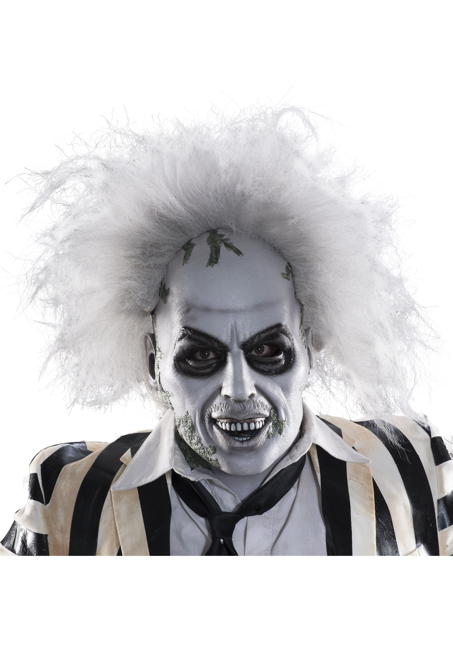 Adult beetlejuice full head latex mask w hair