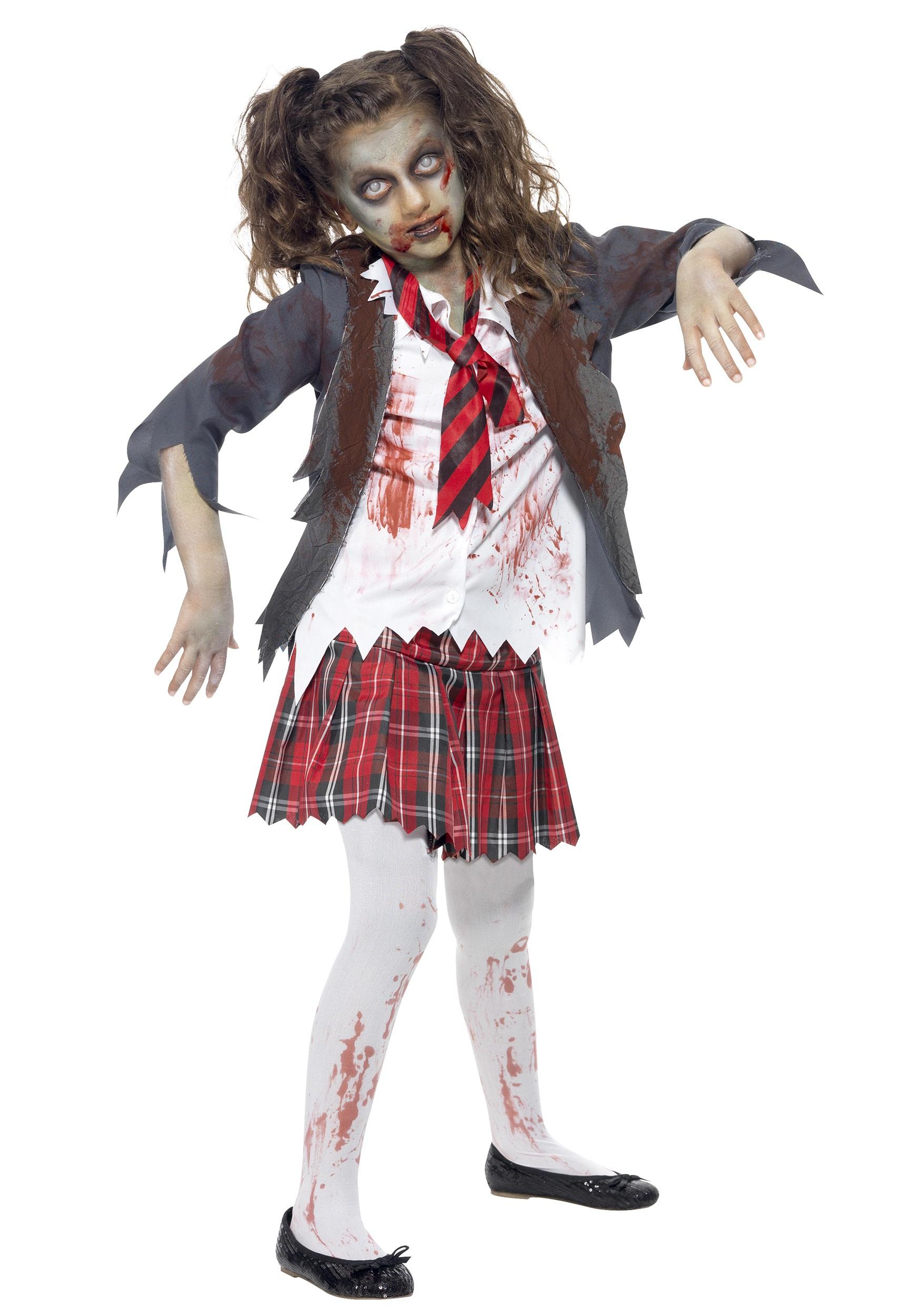 zombie school girl costume for girls