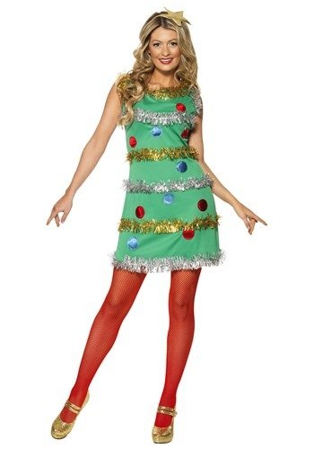 Women's Christmas Tree Costume Dress Update Main