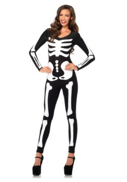 Glow In the Dark Skeleton Women's Catsuit