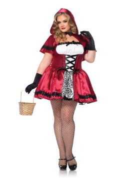 Gothic Red Riding Hood Costume For Plus Size