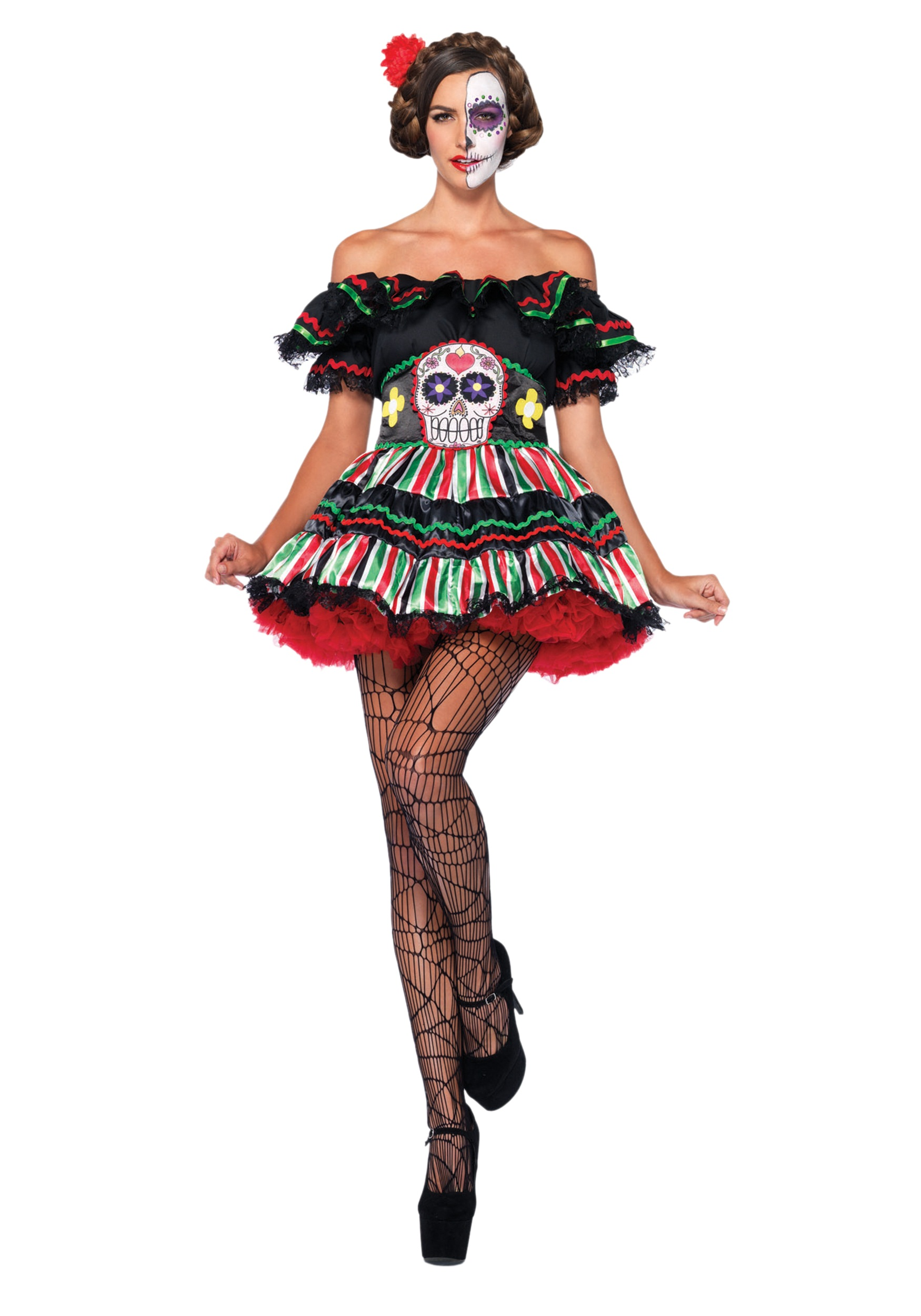 Day of the dead doll costume for adults