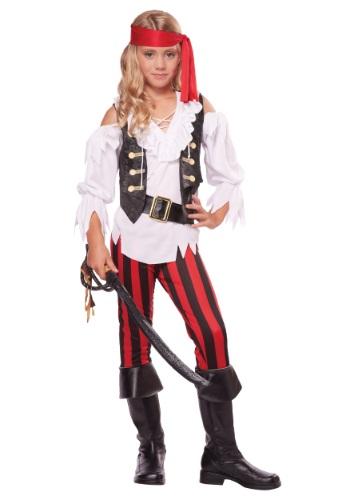 Posh Pirate Girl's Costume