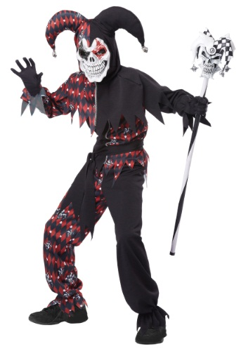 Sinister Jester Kids Costume