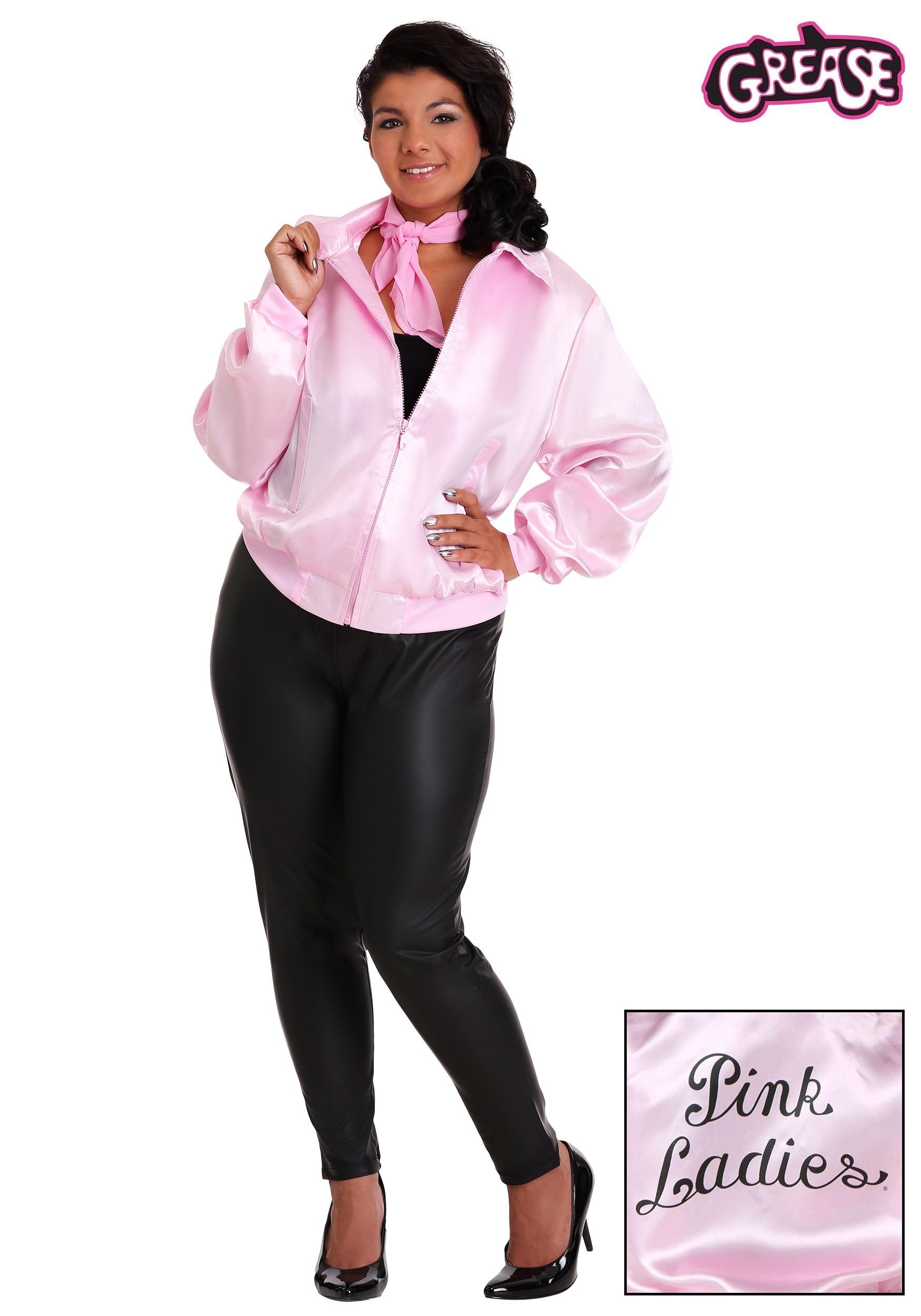 grease plus size pink ladies jacket