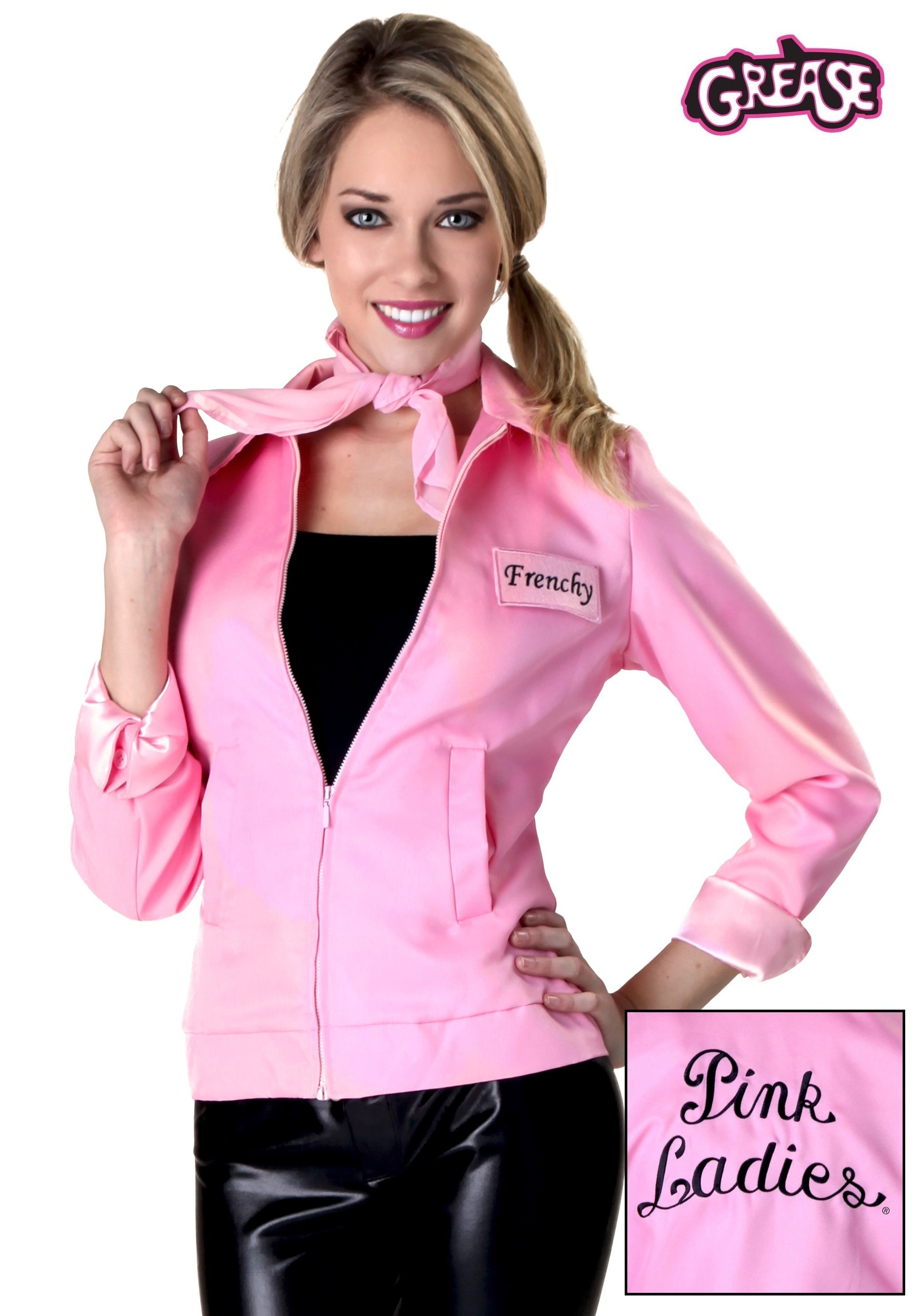 grease pink ladies jacket authentic plus costume costumes fun frenchy rizzo marty halloween halloweencostumes jan defect shoes google write