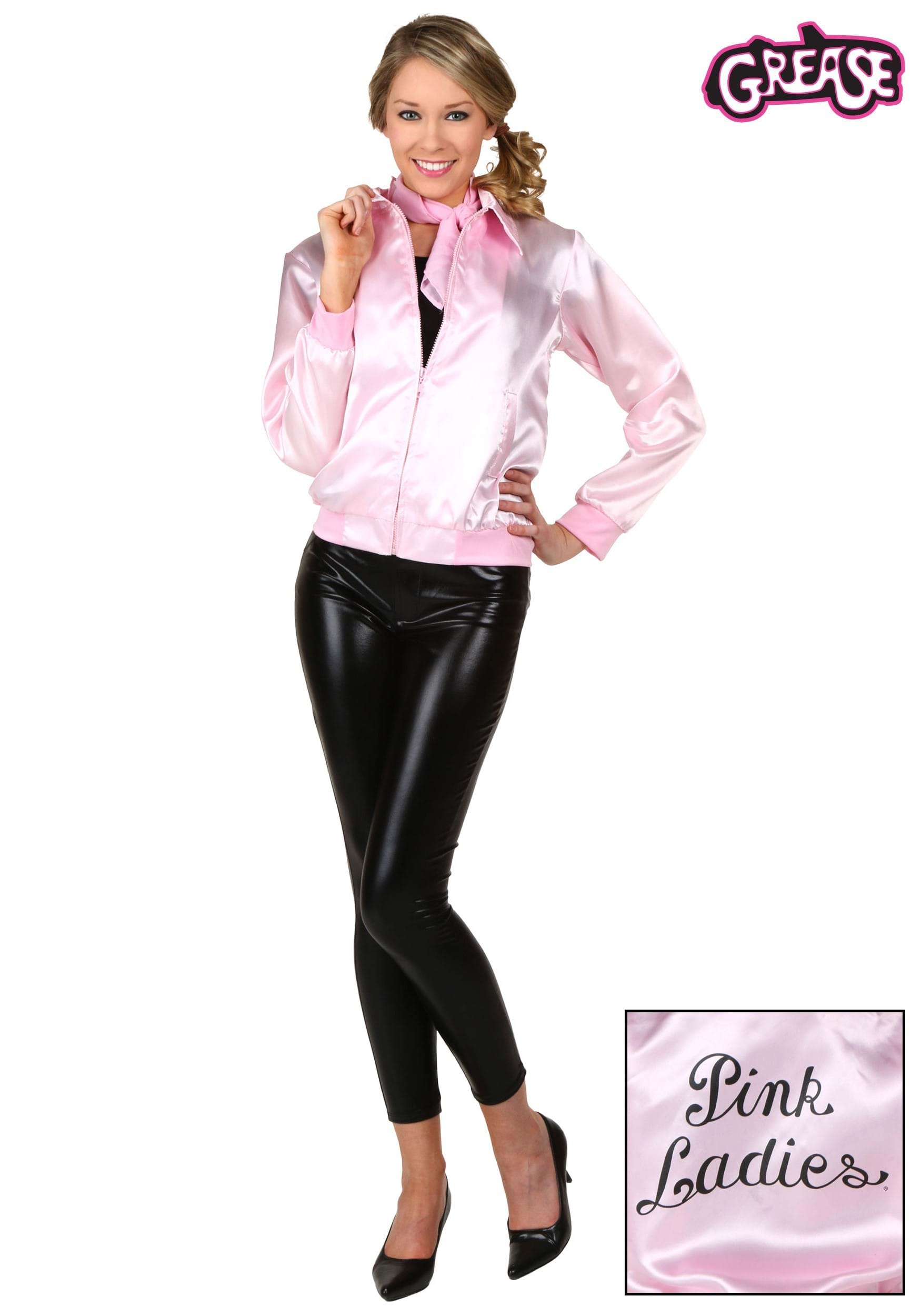 Adult Grease Pink Ladies Jacket  sc 1 st  Fun.com & Costumes and Accessories