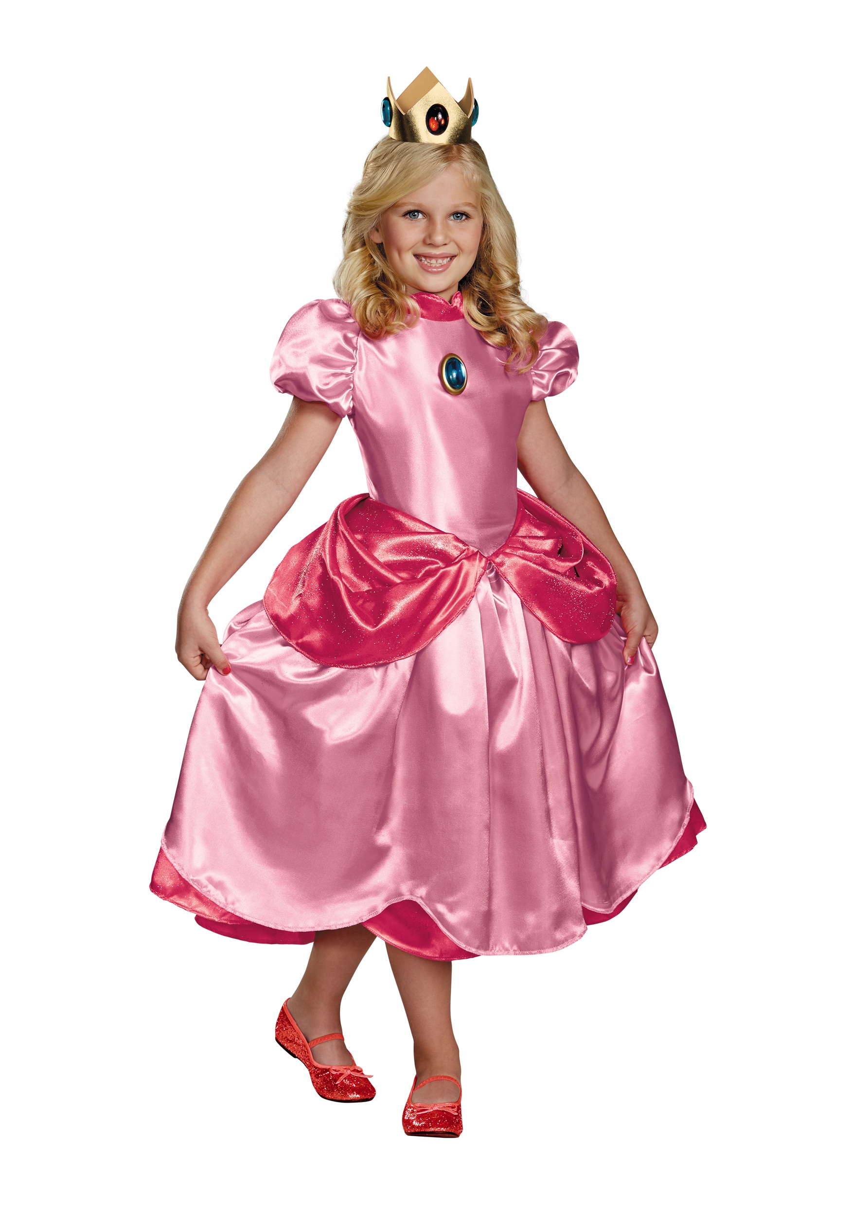 Princess Peach Deluxe Costume for Girls