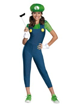 Tween Girls Luigi Costume