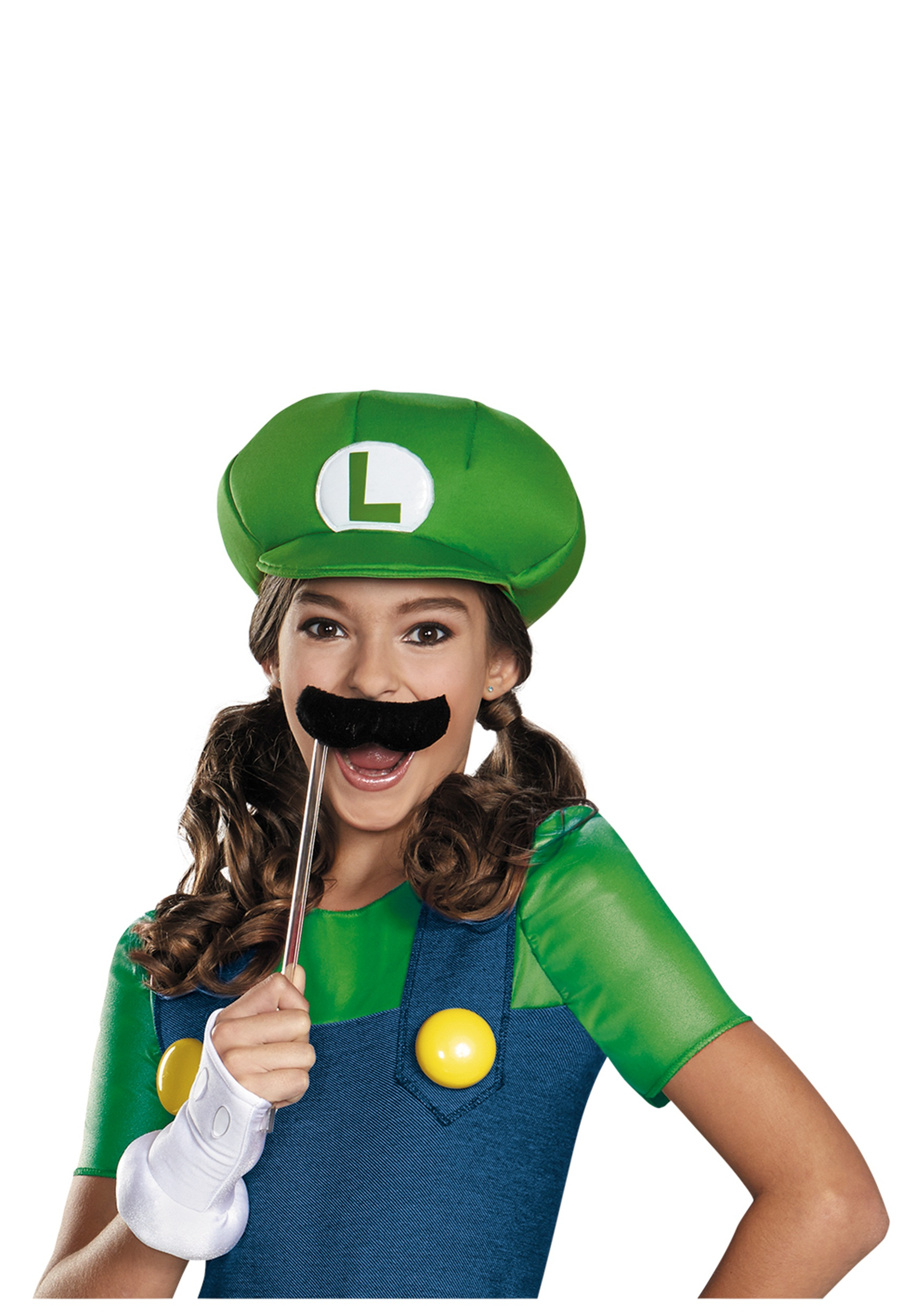 Tween Girls Luigi Costume Video Game Costume For Girls