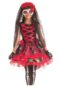Day of the Dead Senorita Child Costume