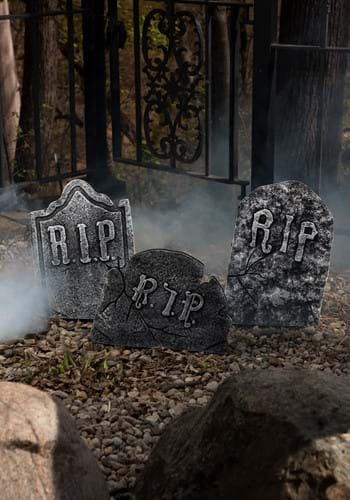 Halloween Decoration Tombstone Set - Crooked Stone