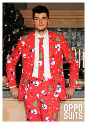 Men's Red Christmas Suit