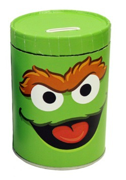 Oscar the Grouch Tin Bank