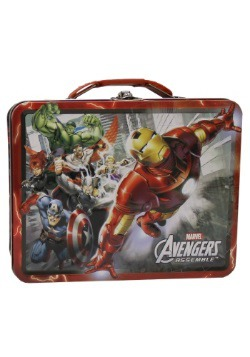 Red Avengers Assemble Tin Lunch Box