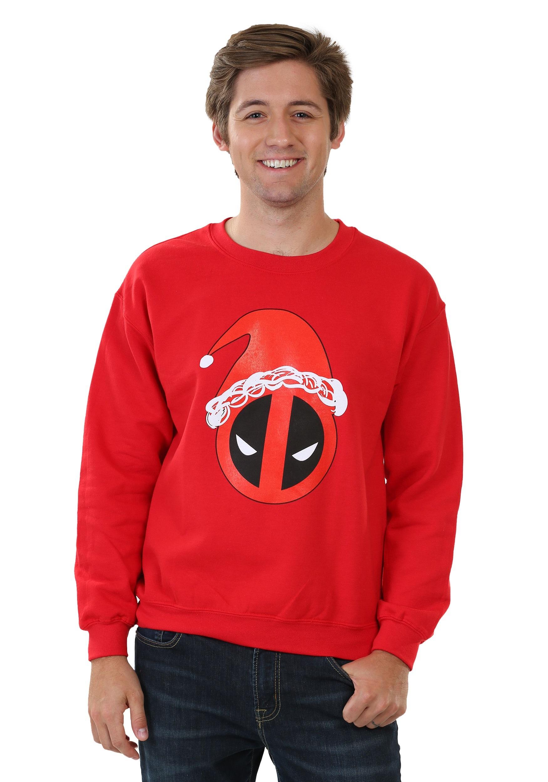 Santa Hat Deadpool Sweatshirt MFDE919DJB1