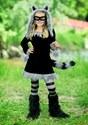 Girls Sweet Raccoon Costume