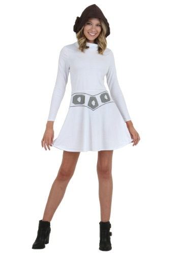 I Am Leia Women's Hooded Skater Costume Dress