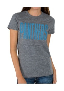 Juniors T-Shirt - Touchdown Triblend Crew Carolina Panthers