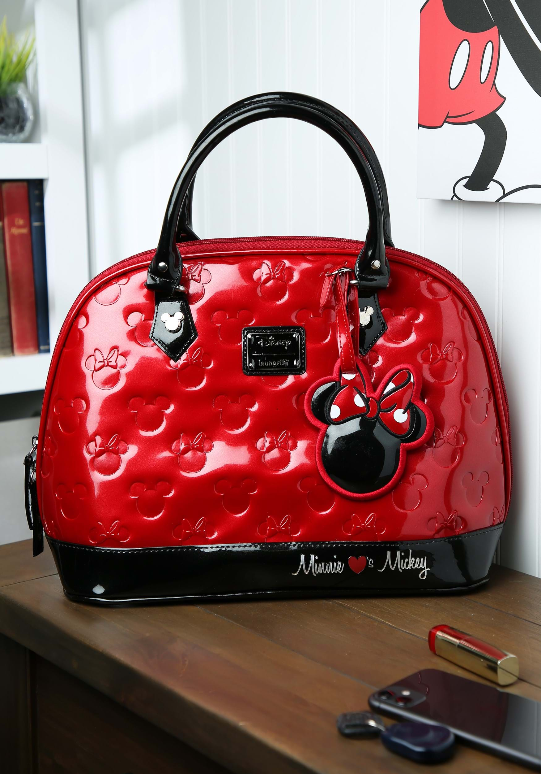 loungefly mickey and minnie disney embossed bag. Black Bedroom Furniture Sets. Home Design Ideas