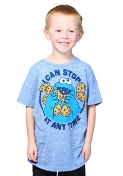 Toddler Boys Cookie Monster Stop at Any Time T-Shirt