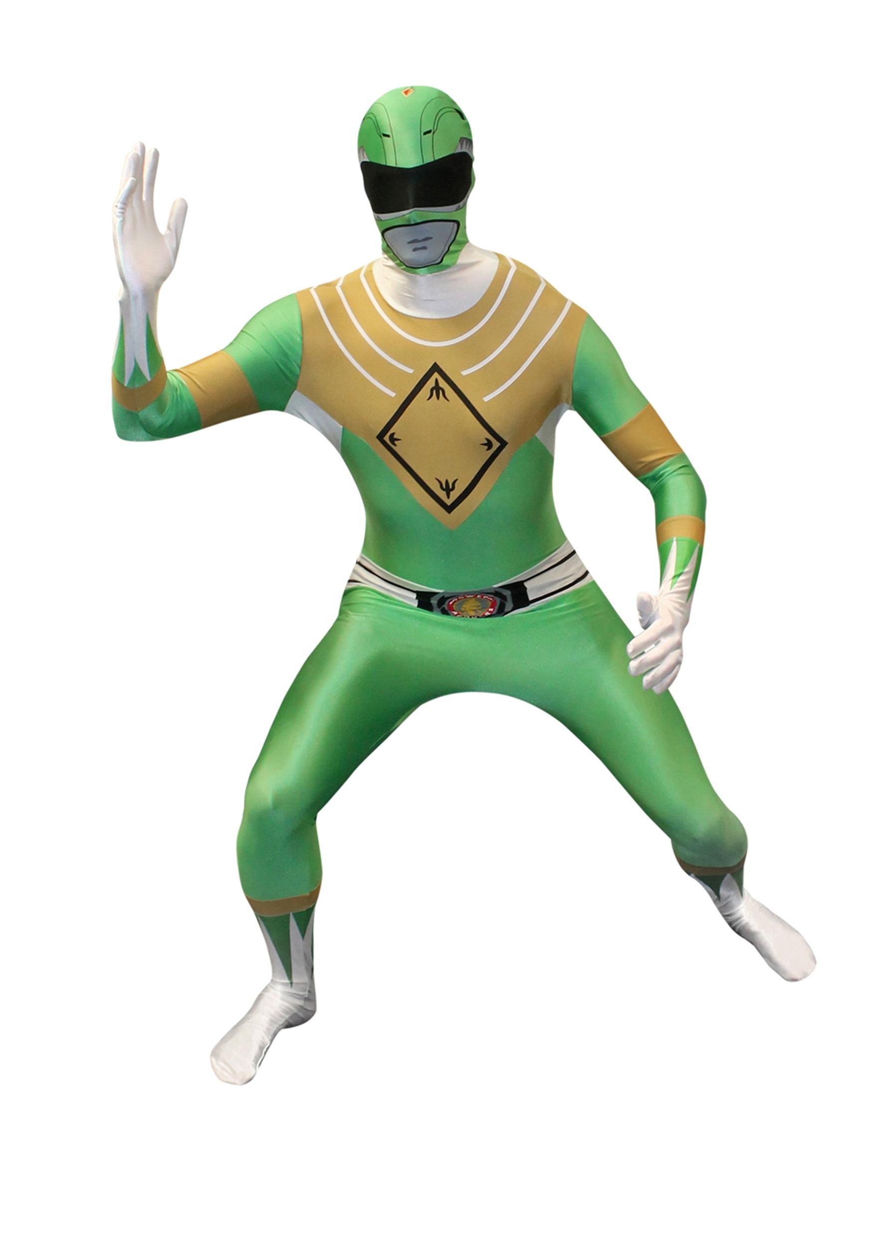 White Power Ranger Morphsuit Adult Costume