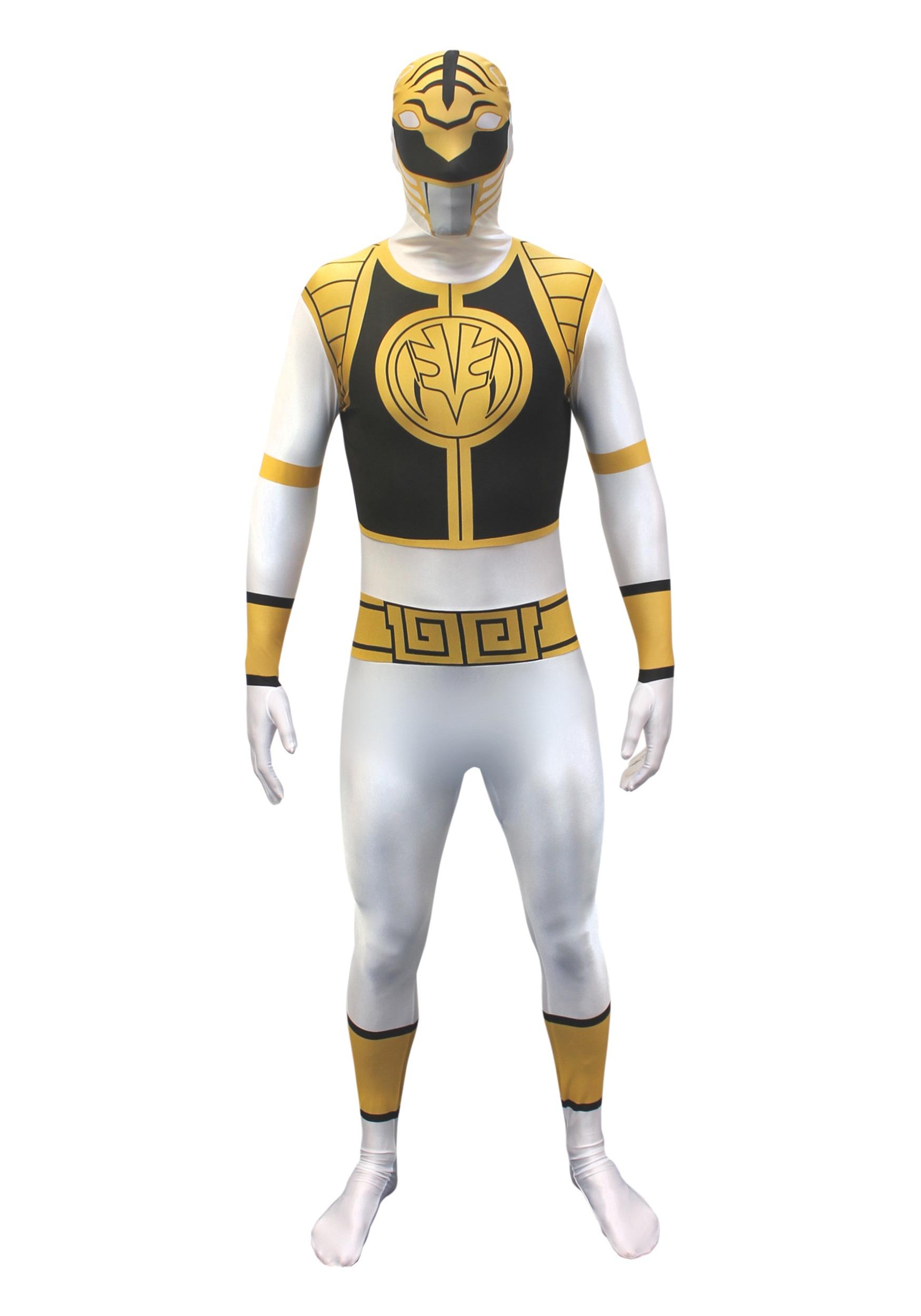 Power Rangers White Ranger Morphsuit Costume