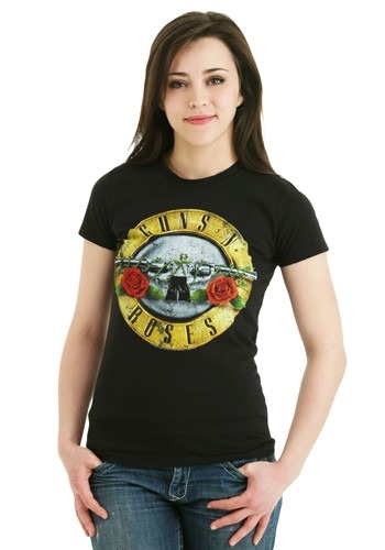 Guns N Roses Distressed Bullet Juniors Shirt Update Main