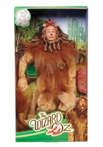 Barbie Collector Wizard of Oz Cowardly Lion Figure