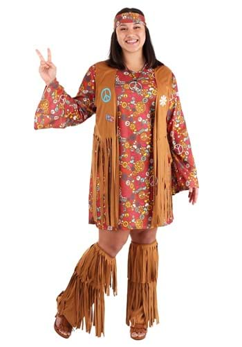 Plus Size Peace & Love Costume