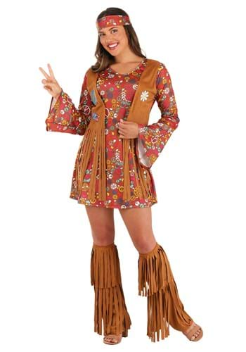 Peace & Love Hippie Womens Costume Upd
