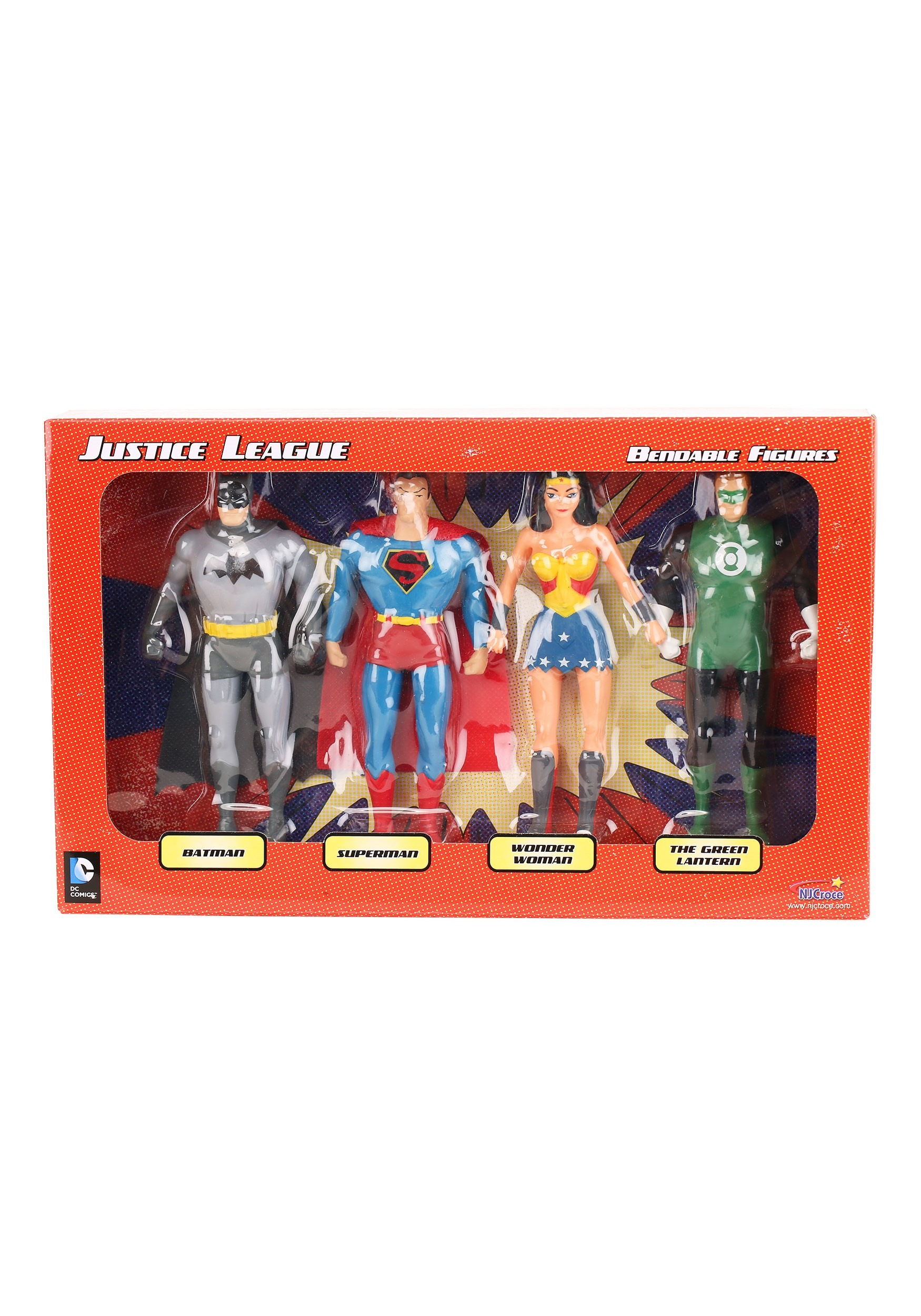 Justice League Bendable Figures Boxed Set NJCDC3900